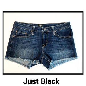 Just Black Denim Shorts